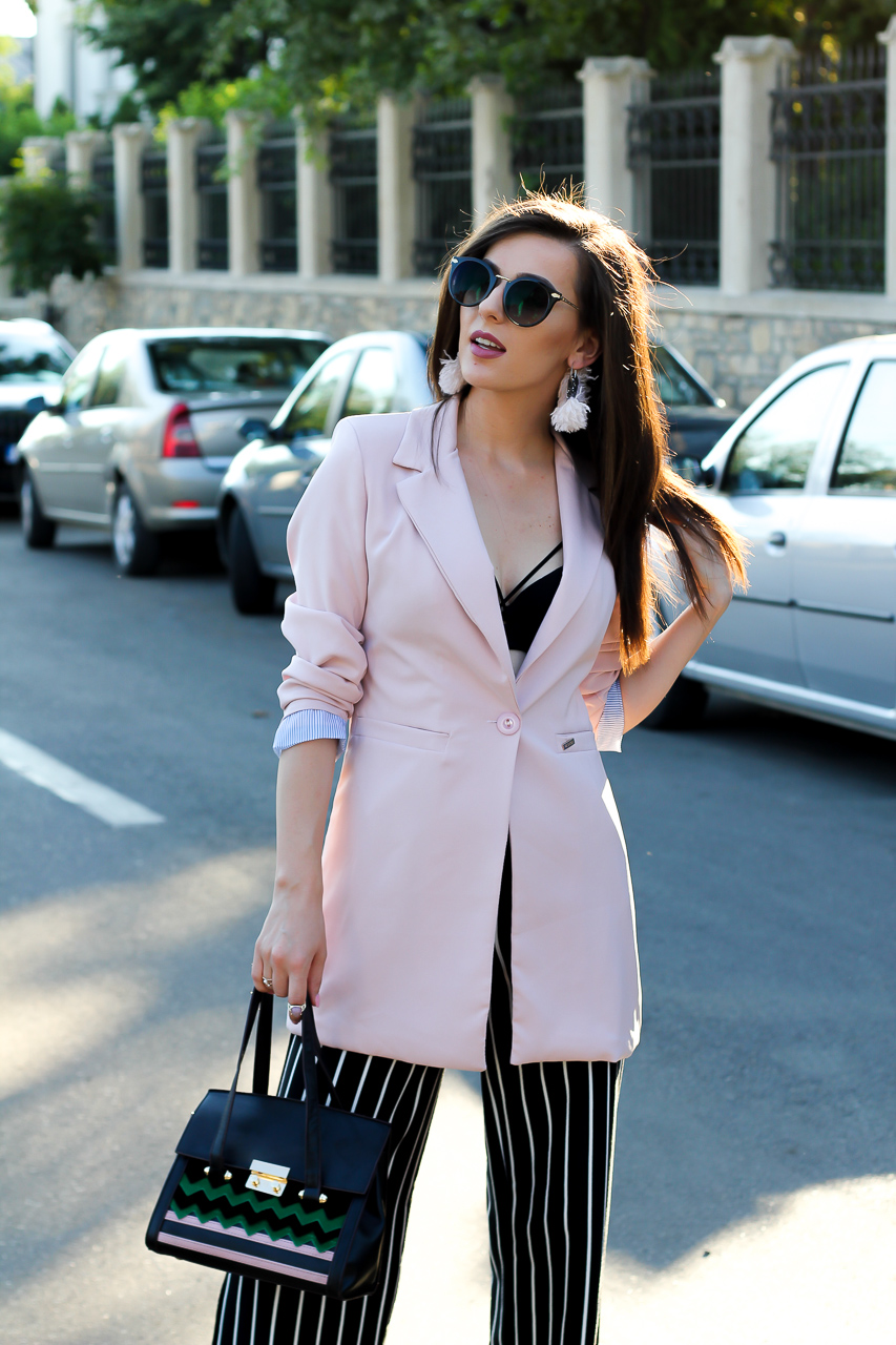 Coat, summer outfit, jadu, dress, pants, short pants, office outfit, fashion blog, ramonacervenciuc.ro